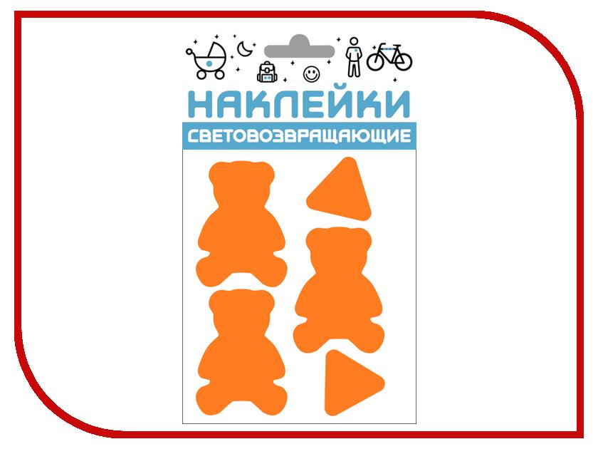 Светоотражатель Cova Наклейки Мишки 100x85mm Orange 333-428 светоотражатель cova наклейки сердечки 100x85mm red 333 414