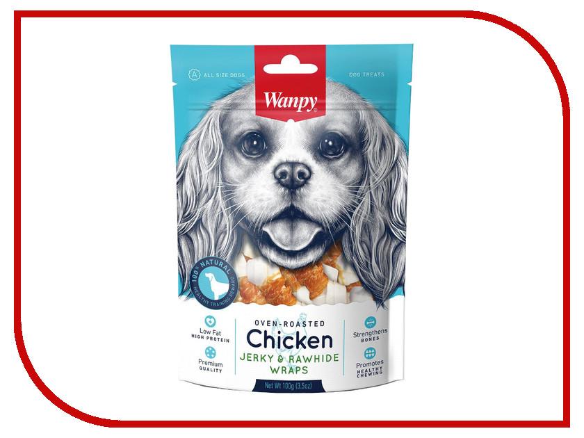 Лакомство Wanpy Dog Кости из сыромятной кожи с куриным мясом 100g CD-08H