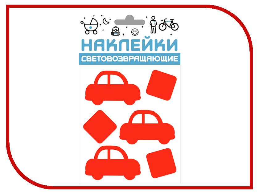 Светоотражатель Cova Наклейки Авто 100x85mm Red 333-424 наклейки на авто оранжевый слоник авто стикер цветной знак