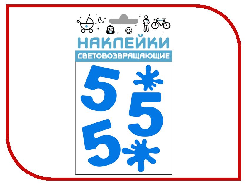 Светоотражатель Cova Наклейки Отличник 100x85mm Blue 333-420