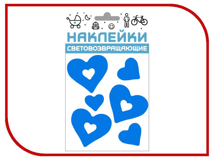 Светоотражатель Cova Наклейки Сердечки 100x85mm Blue 333-415 светоотражатель cova наклейки сердечки 100x85mm red 333 414