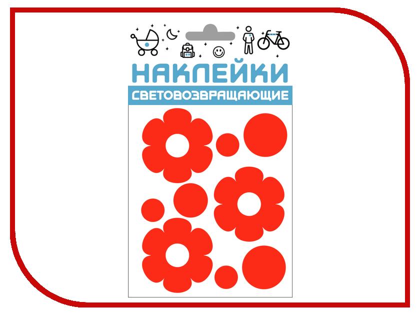 Светоотражатель Cova Наклейки Цветочки 100x85mm Red 333-409