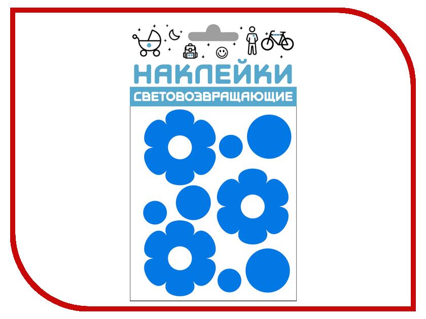 Светоотражатель Cova Наклейки Цветочки 100x85mm Blue 333-410
