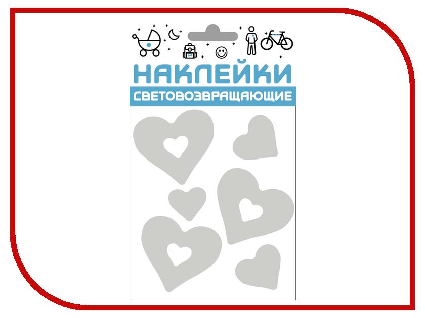 Здесь можно купить Сердечки 333-411  Светоотражатель Cova Наклейки Сердечки 100x85mm Metallic 333-411