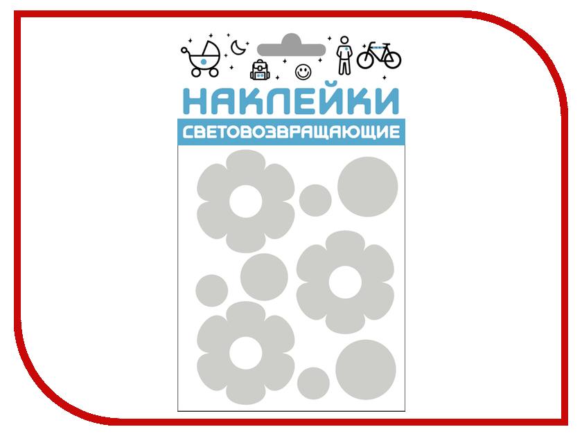 Светоотражатель Cova Наклейки Цветочки 100x85mm Metallic 333-406 светоотражатель cova набор термоаппликаций прямоугольники 70x70mm 333 333