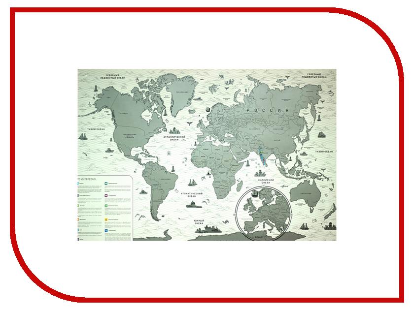 Гаджет Megamind Стиральная карта Мира Русский Язык Black М3196<br>