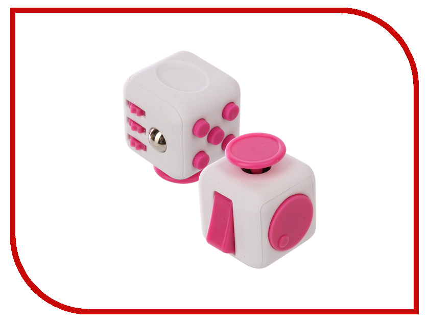 Игрушка антистресс Fidget Cube Original White-Pink