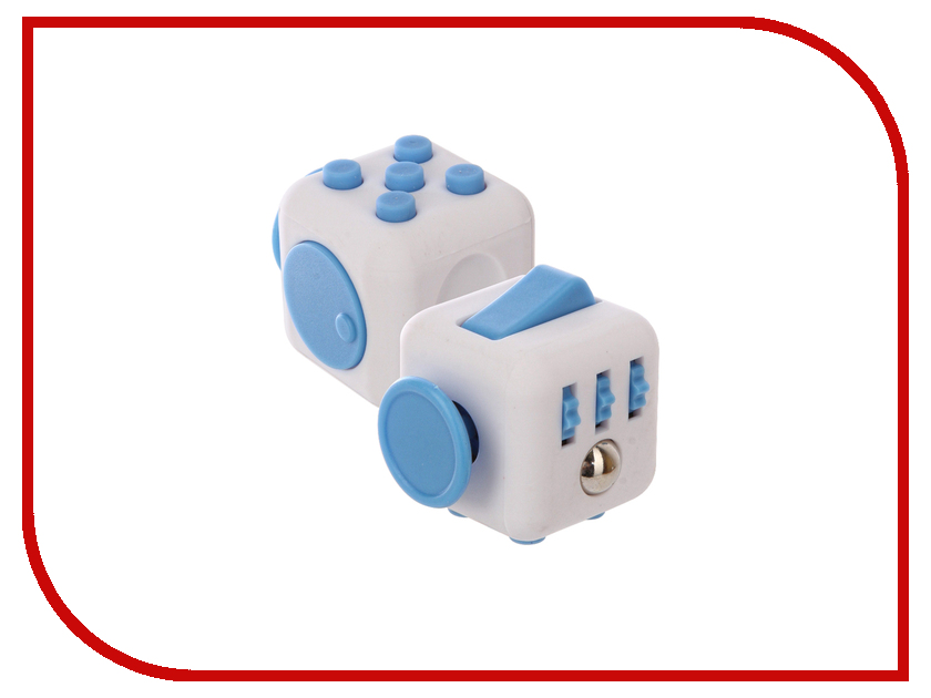 Игрушка антистресс Fidget Cube Original White-Light Blue