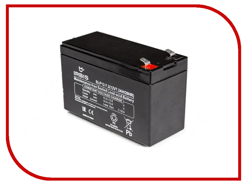 Аккумулятор для ИБП Irbis BLP12-7.2