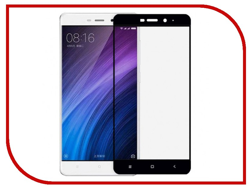 Аксессуар Защитное стекло для Xiaomi Redmi Note 4X Mobius 3D Full Cover Black чехол книжка red line book type для xiaomi redmi 5 black
