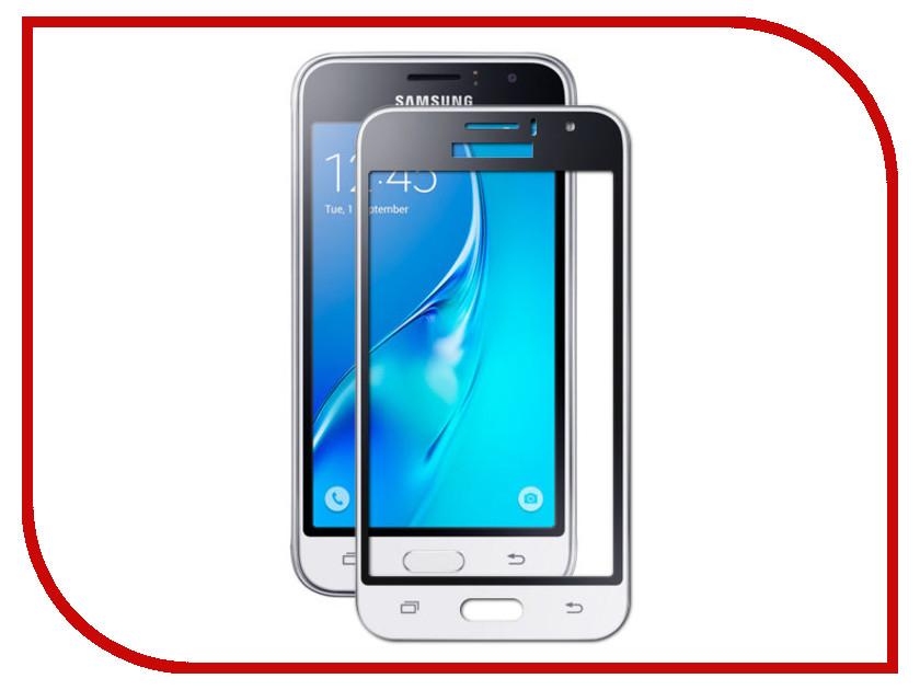 Аксессуар Защитное стекло Samsung Galaxy J1 2016 Mobius 3D Full Cover White