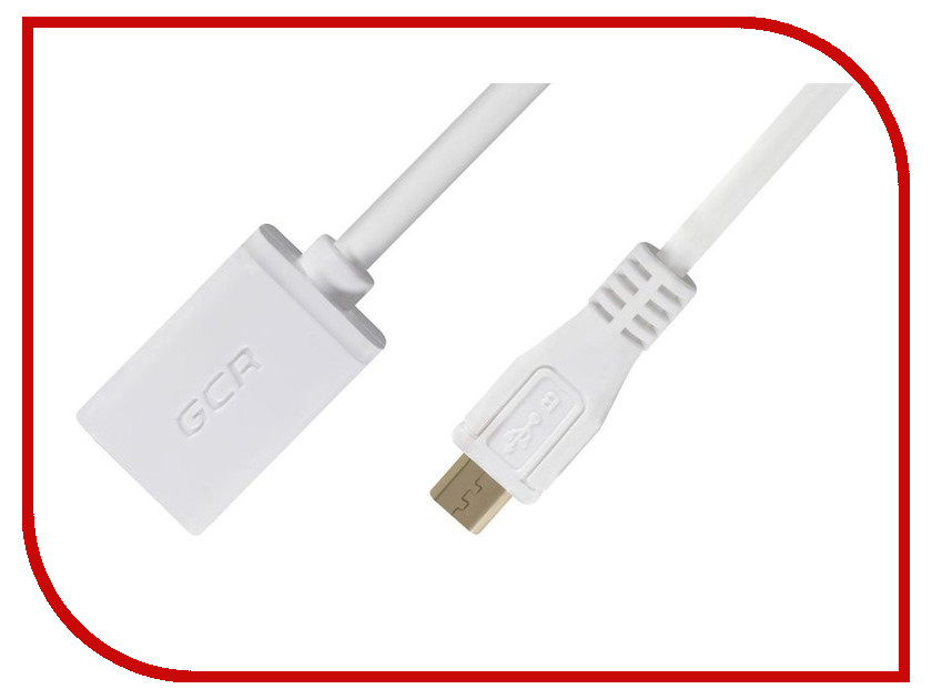 Фото Аксессуар Greenconnect OTG micro USB - AF USB 2.0 0.5m White GCR-MB8AF-AAG-0.5m