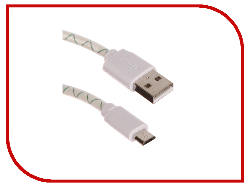Аксессуар Greenconnect USB AM - micro B 5pin 1.5m White-Green GCR-UA9MCB3-BD-1.5m<br>