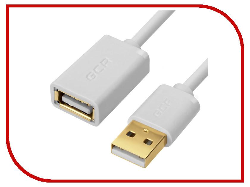 Аксессуар Greenconnect USB 2.0 AM - AF 1m White GCR-UEC7M-AA2SG-1.0m аксессуар greenconnect type c usb 3 0 1m gcr uc3am 1m gc uc3am 1m