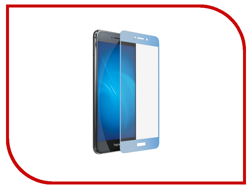 Аксессуар Защитное стекло Huawei Honor 8 Lite / P8 Lite DF Fullscreen hwColor-08 Blue