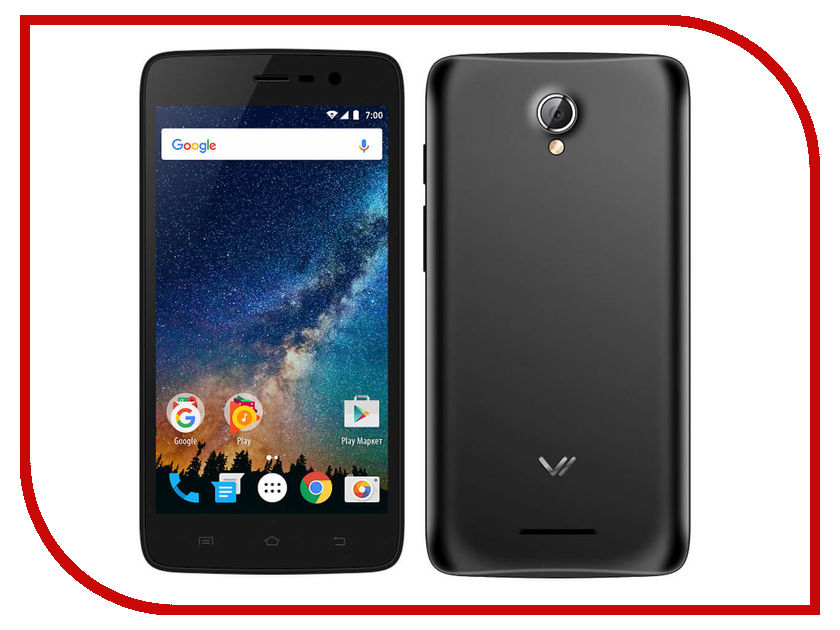 Сотовый телефон Vertex Impress Saturn LTE Black сотовый телефон vertex impress lagune lte black