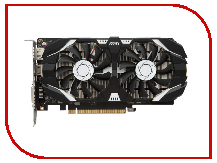 Видеокарта MSI GeForce GTX 1050 Ti 1341Mhz PCI-E 3.0 4096Mb 7008Mhz 128 bit DVI HDMI HDCP GTX 1050 TI 4GT OC видеокарта asus geforce gtx 1060 1620mhz pci e 3 0 6144mb 8208mhz 192 bit dvi hdmi hdcp rog strix gtx1060 o6g gaming