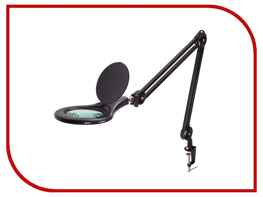 Лупа настольная Rexant 5x с подсветкой 90 LED Black 31-0406 rexant 3x 12x с подсветкой white 31 0242