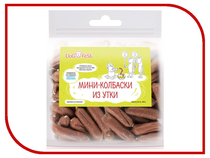 Лакомство Dog Fest Мини-колбаски из утки 949842033