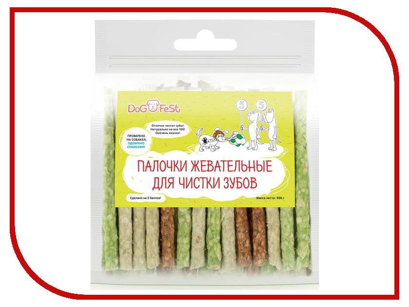 Лакомство Dog Fest Палочки жевательные для чистки зубов 926050373