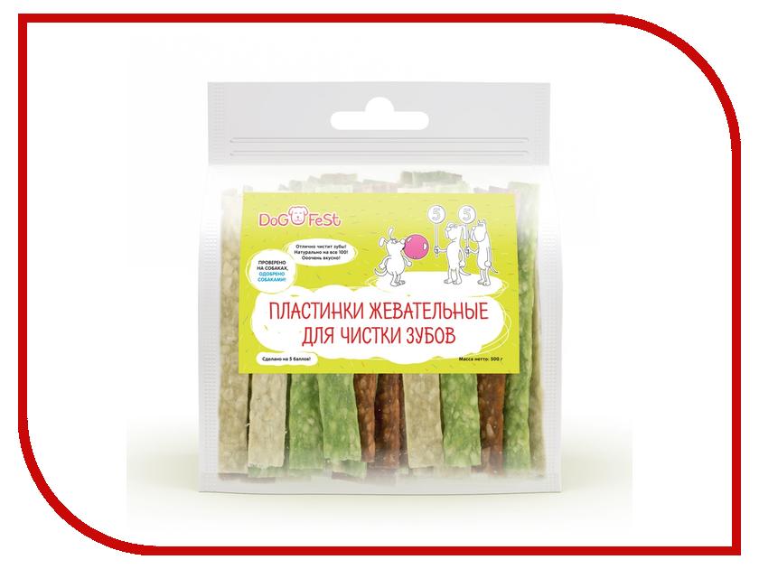 Лакомство Dog Fest Пластинки жевательные для чистки зубов 926050366
