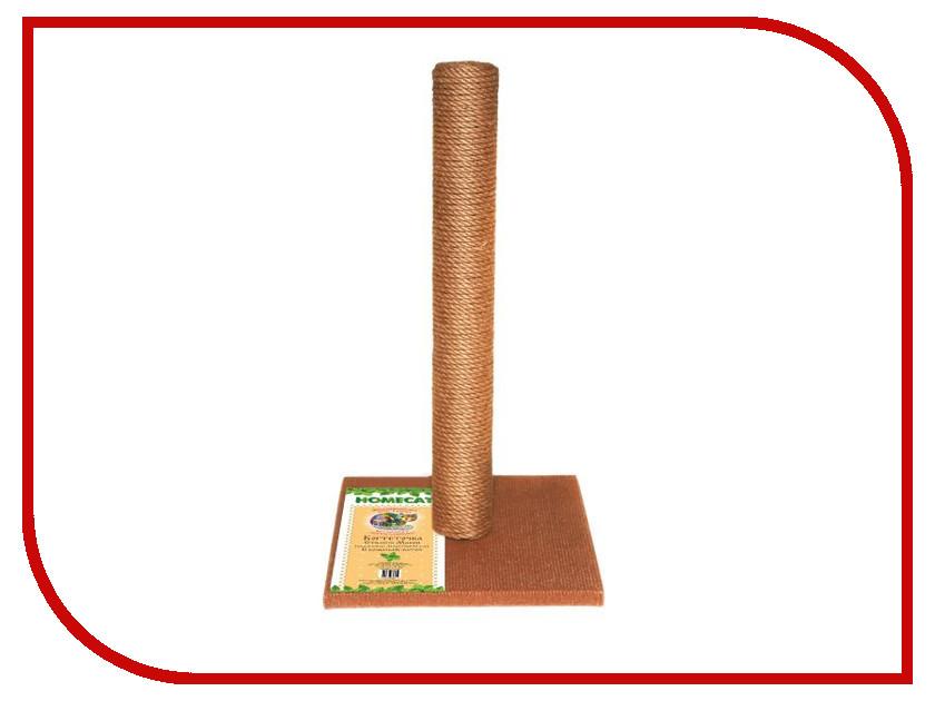 Когтеточка Homecat столбик Brown 410x410x630mm 66305