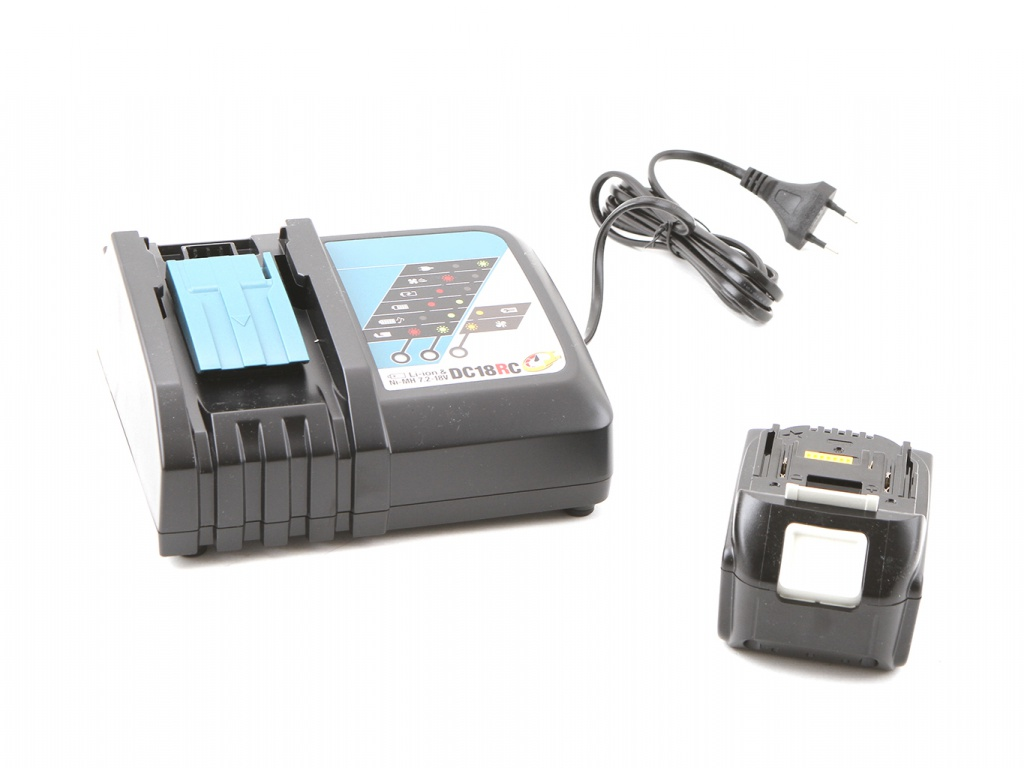 Комплект Makita Аккумулятор BL1850B Li-ion 18V 5Ah Слайдер х2шт + ЗУ DC18RC Кейс MacPac 198311-6