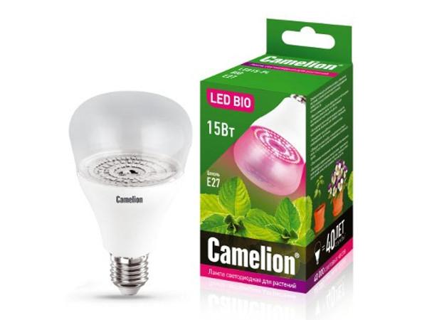 Светодиодная фитолампа Camelion 15W 220V LED15-PL/BIO/E27