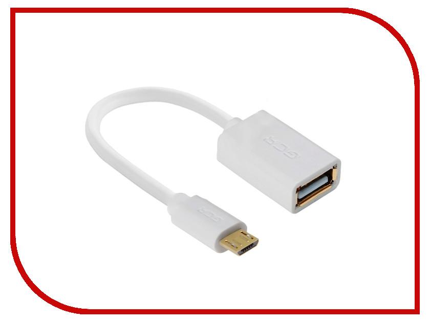 Аксессуар Greenconnect OTG micro USB - AF USB 2.0 1m White GCR-MB6AF-AA2S-1m