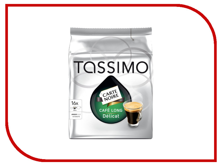 Капсулы Tassimo Carte Noire Cafe Long Delicat капсулы t диски tassimo jacobs espresso classico 16 порций