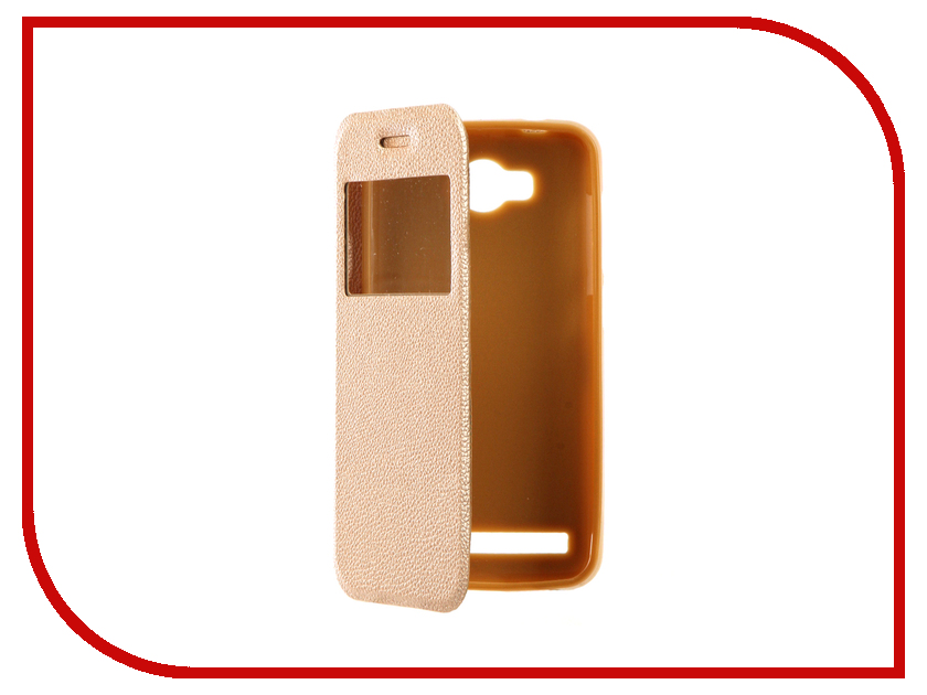 Аксессуар Чехол Huawei Honor Y3II Gecko Book Gold G-BOOK-HUAW-Y3 II-GOLD аксессуар чехол huawei y3ii red line book type gold
