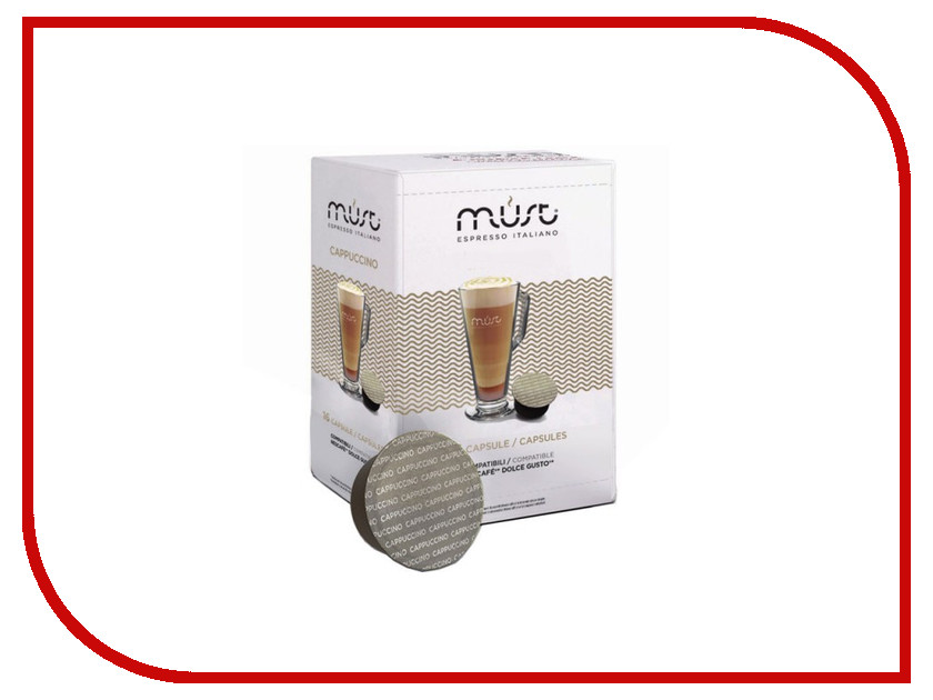 Капсулы Must Dolce Gusto Cappucino Caramel 16шт капсулы oysters dolce gusto espresso 16шт