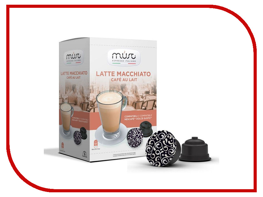 Капсулы Must Dolce Gusto Latte Macchiato 16шт капсулы oysters dolce gusto espresso 16шт