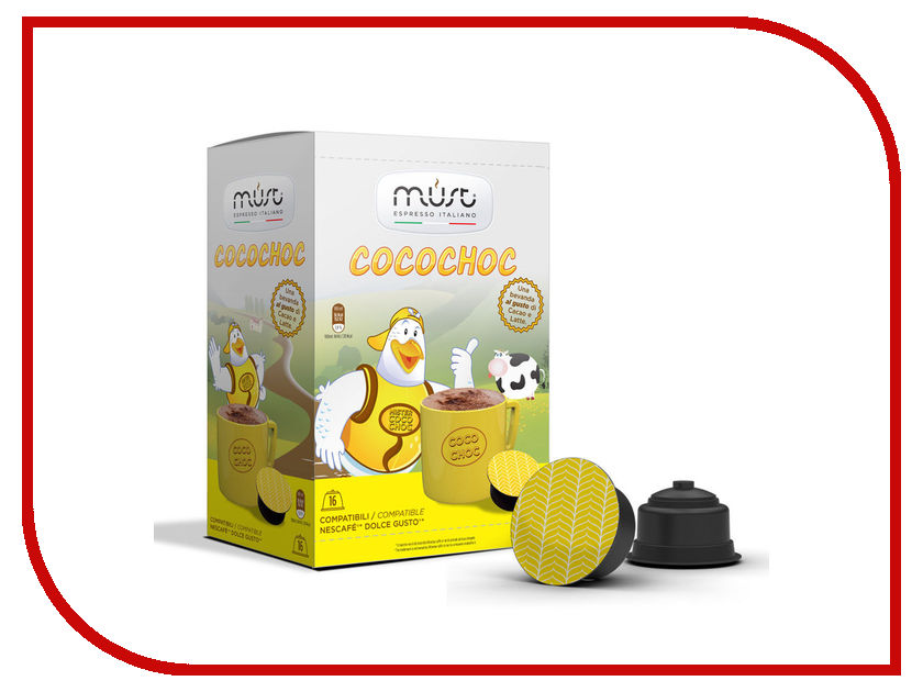 Капсулы Must Dolce Gusto Cococho 16шт капсулы oysters dolce gusto espresso 16шт