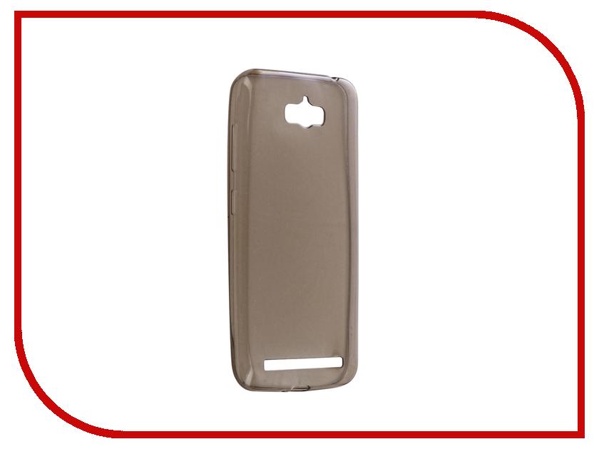 Аксессуар Чехол ASUS ZenFone Max ZC550KL Gecko Silicone Transparent-Glossy Black S-G-ASZCMAX-BL асус зенфон макс zc550kl 16gb