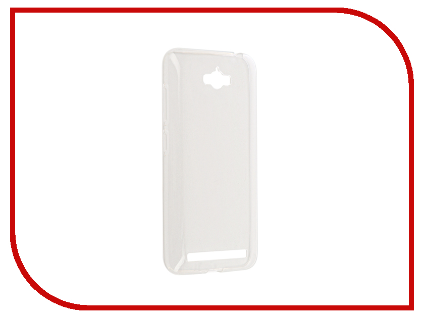 Аксессуар Чехол ASUS ZenFone Max ZC550KL Gecko Silicone Transparent-Glossy White S-G-ASZCMAX-WH асус зенфон макс zc550kl 16gb