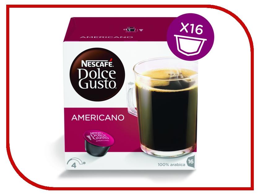Капсулы Nescafe Dolce Gusto Americano 16шт 12115461 nescafe кофе nescafe gold растворимый 150г