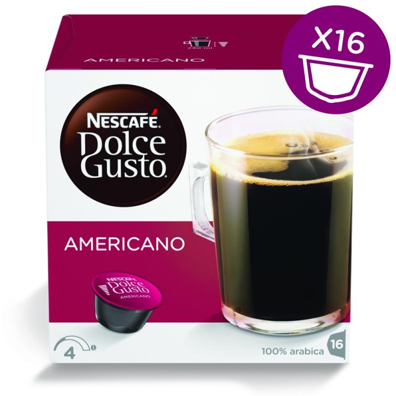 Капсулы Nescafe Dolce Gusto Americano 16шт 12115461 капсулы nescafe dolce gusto cortado 16шт 12121894