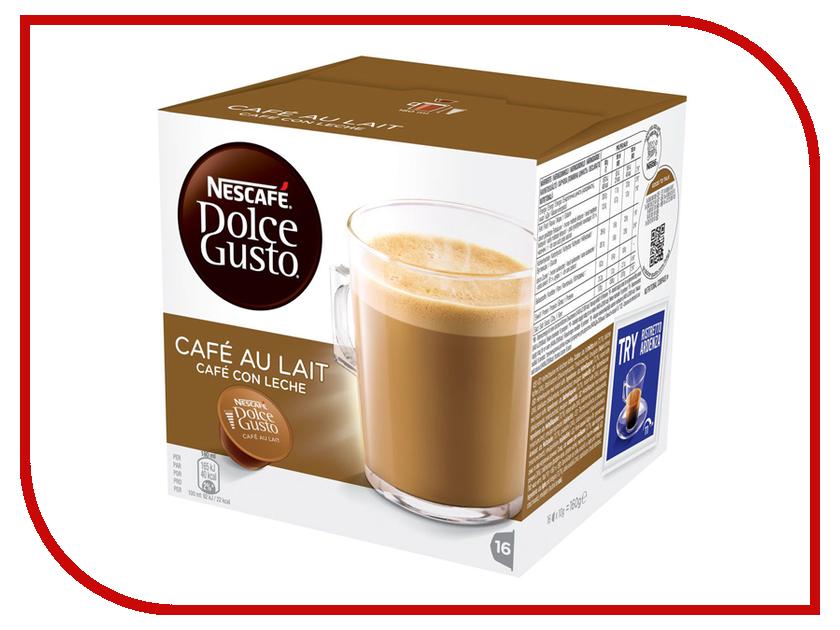 Капсулы Nescafe Dolce Gusto Cafe au lait 16шт 12148061 капсулы для кофемашин krups nescafe dolce gusto grande intenso