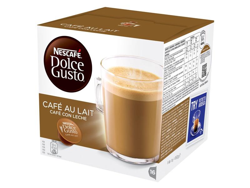 Капсулы Nescafe Cafe au lait 16шт стандарта Dolce Gusto 12148061