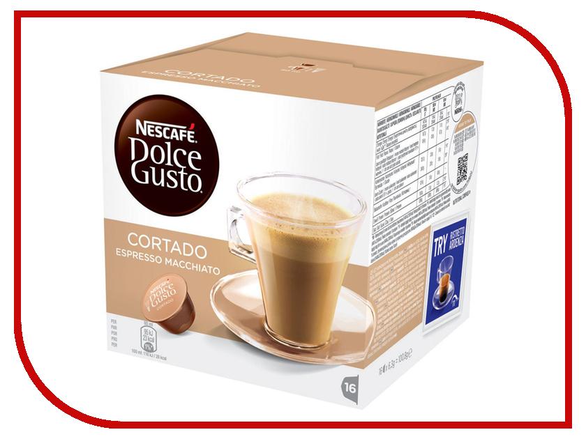 Капсулы Nescafe Dolce Gusto Cortado 16шт 12121894 nescafe dolce gusto cortado эспрессо с молоком кофе в капсулах 16 шт