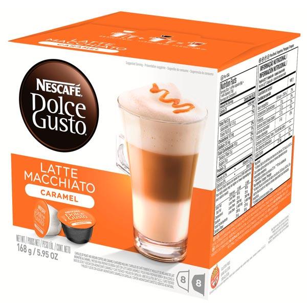Капсулы Nescafe Dolce Gusto Latte Macchiato Caramel 16шт 12136960