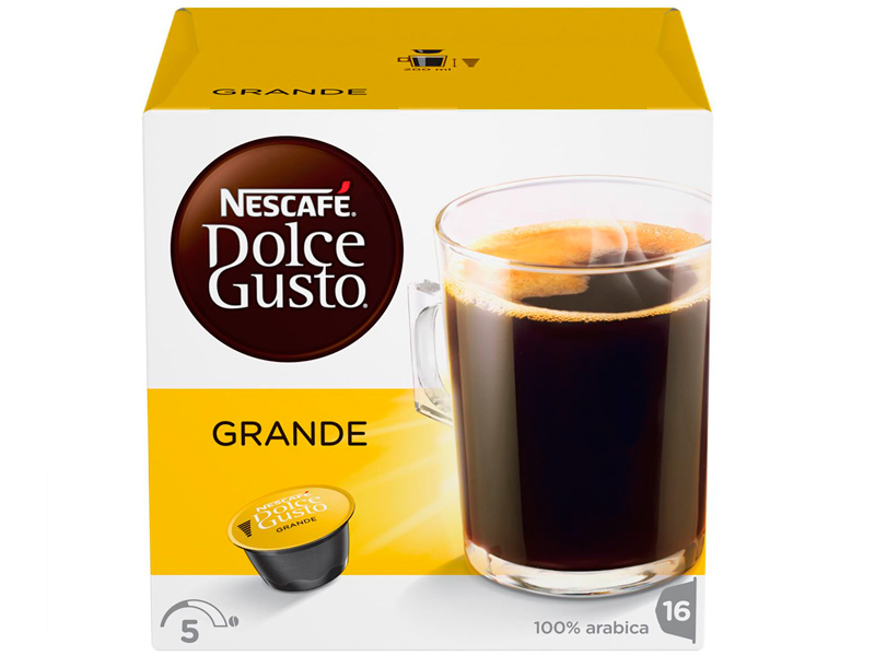 Капсулы Nescafe Dolce Gusto Cafe Crema Grande 16шт 12120090 капсулы nescafe dolce gusto preludio 16шт 12314472
