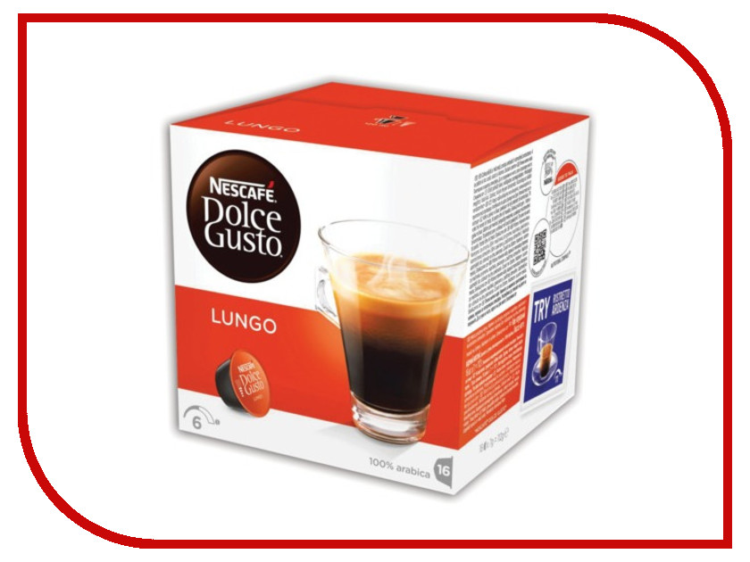 Капсулы Nescafe Dolce Gusto Lungo 16шт 5219842 капсулы dolce gusto 128гр кофе 16 капсул