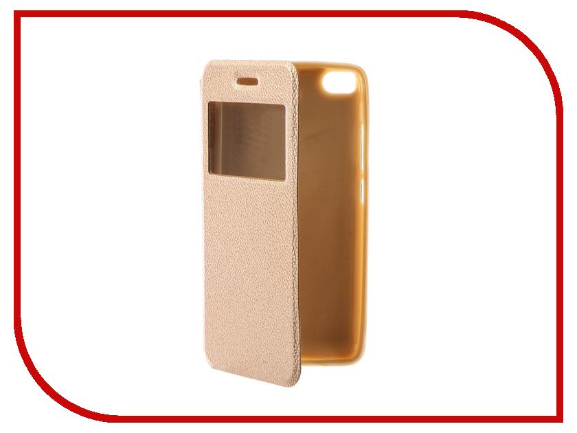Аксессуар Чехол Xiaomi Mi5S Gecko Book Gold G-BOOK-XIAM-5S-GOLD аксессуар чехол xiaomi redmi note 3 gecko book black g book xiam n3 bl