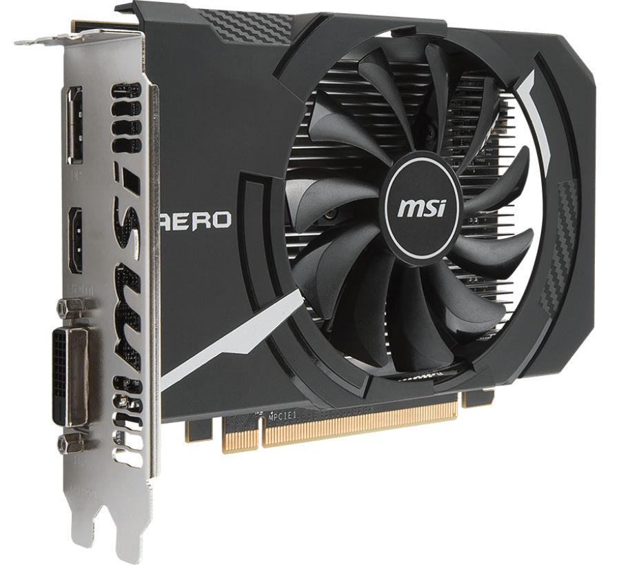 Видеокарта MSI Radeon RX 560 1196Mhz PCI-E 3.0 4096Mb 7000Mhz 128 bit DVI HDMI HDCP RX 560 AERO ITX 4G OC цена 2017