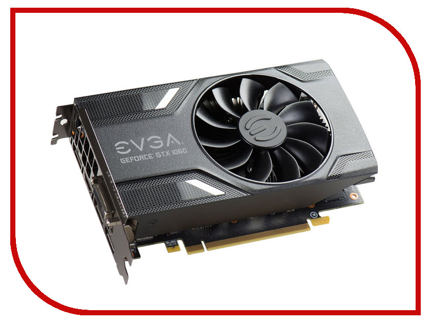 Видеокарта EVGA GeForce GTX 1060 Gaming 1506Mhz PCI-E 3.0 6144Mb 8008Mhz 192 bit DP DVI HDMI 06G-P4-6161-KR видеокарта msi geforce gtx 1060 1594mhz pci e 3 0 6144mb 8100mhz 192 bit dvi hdmi hdcp gtx 1060 gaming x 6g