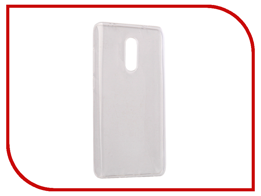 Аксессуар Чехол Xiaomi Redmi Note 4X Gecko Silicone Transparent-Glossy White S-G-XIRMNOTE4X-WH аксессуар чехол nokia 230 230 dual sim gecko transparent glossy white s g nok230 wh