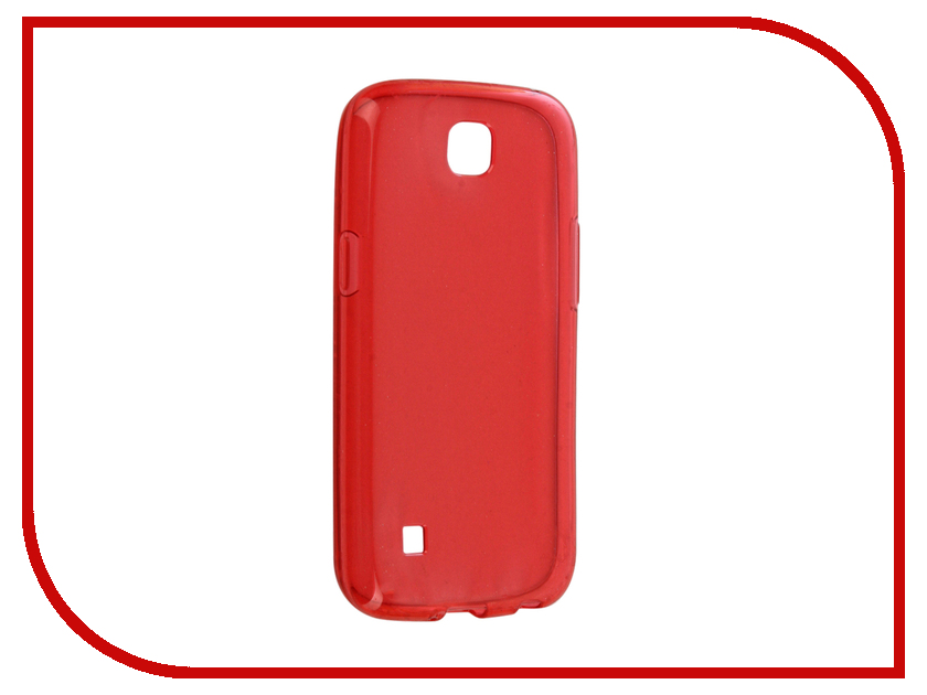 Аксессуар Чехол LG K3 K100 Gecko Transparent-Glossy Red S-G-LGK-RED