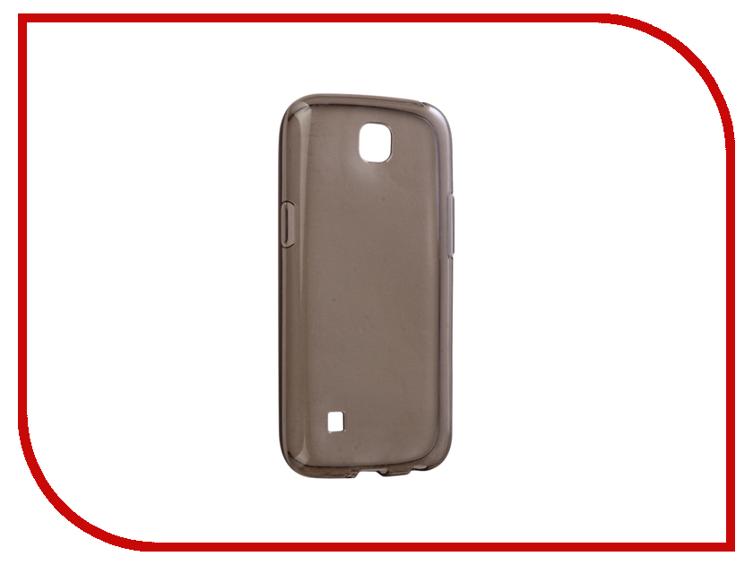 Аксессуар Чехол LG K3 K100 Gecko Transparent-Glossy Black S-G-LGK3-BL
